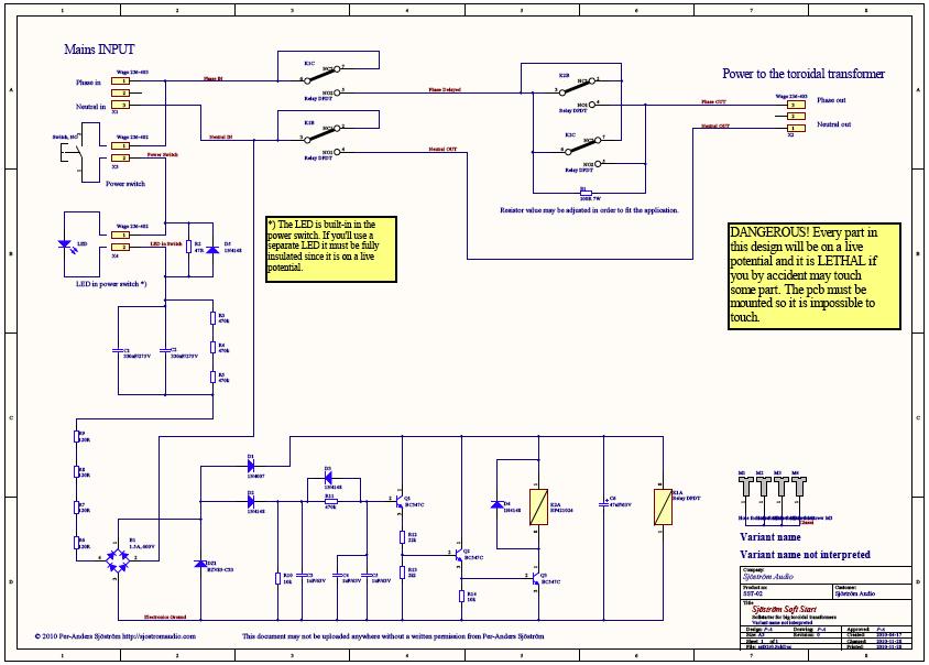 Sjöström Audio - SST03 Softstart for toroidal transformers